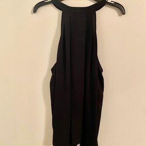 NWT Trouvé black blouse halter top Large